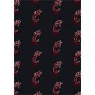 "Cincinnati Bearcats 5' 4"" x 7' 8"" Team Repeat Area Rug"