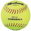 """6 1/2"""" Official Yellow Corkballs from Markwort - (One Dozen)"""