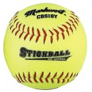 Yellow Synthetic Leather Cover Stick Balls Teampack from Markwort - (One Dozen)