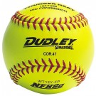 """12"""" Spalding Thunder Heat WT12 Red Stitch .47 COR NFHS Yellow Leather Softballs from Dudley - (One Dozen)"""