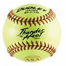 "11"" Spalding Thunder Heat WT11 .47 COR ASA Red Stitch Leather Yellow Softballs from Dudley - (One Dozen)"