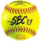 """11"""" SBS11 Cork Center Red Stitch .47 COR Softballs from Dudley - (One Dozen)"""