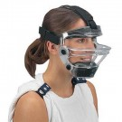 Game Face® Medium Clear Sports Safety Mask with Black T-Harness