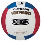 Tachikara Outdoor Super Soft Composite Leather Beach Volleyball  (Scarlet / White / Royal)