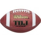 Wilson TDJ Official Junior League Leather Footballs - Case of 6