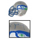 Rick Mirer, Seattle Seahawks Autographed Riddell Old Logo Authentic Mini Football Helmet