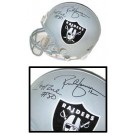 Rich Gannon and Jerry Rice, Oakland Raiders Official Riddell Pro Line Autographed Authentic Full Size Football Helmet