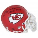 Len Dawson, Kansas City Chiefs Autographed Riddell Authentic Mini Football Helmet Signed