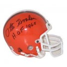 "Otto Graham, Cleveland Browns Autographed Riddell Authentic Mini Football Helmet - Signed ""HOF 1965"""