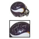 Cris Carter, Randall Cunningham and Warren Moon Autographed Minnesota Vikings Riddell Pro Line Full Size Helmet