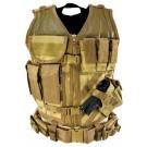 Tan Tactical Vest (Larger Size, XL-2XL)