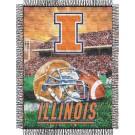 "Illinois Fighting Illini ""Home Field Advantage"" 48"" x 60"" Throw Blanket"