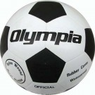 Black / White Rubber Soccer Ball from Olympia Sports - Size 5 (Set of 4)