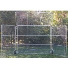 Baseball Backstop For Indoor / Outdoor Use With Top & Side Panels
