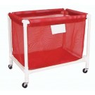 Red PVC Laundry and Equipment Cart