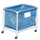 Blue PVC Laundry and Equipment Cart