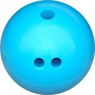 4 lb. Blue Rubberized Plastic Bowling Ball from Cosom®