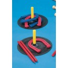 Indoor-Outdoor Rubber Horseshoes - 2 Complete Sets