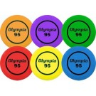 95 Gram Olympia Flying Discs (One of Each Color) - Set of 6