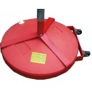 Fillable Game Standard Base with Wheel Attachment, 8' Pole and Slides (One Pair)