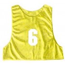 Youth Numbered Micro Mesh Team Practice Vests (Gold) - 1 Dozen