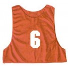 Youth Numbered Micro Mesh Team Practice Vests (Red) - 1 Dozen