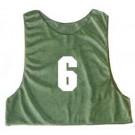 Adult Numbered Micro Mesh Team Practice Vests (Green) - 1 Dozen