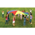 6' Deluxe Multi Colored Parachute with Six Handles (Set of 2)