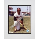 """Frank Robinson Baltimore Orioles """"Kneeling with Bat"""" Double Matted 8"""" X 10"""" Photograph (Unframed)"""
