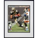 """Deuce McAllister """"2006 / 2007 Action"""" Double Matted 8"""" X 10"""" Photograph in a Black Anodized Aluminum Frame"""