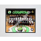 Boston Celtics 2009 - 2010 Team Photo with Eastern Conference Champions Overlay Double Matted 8