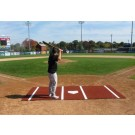 ProMounds 12' X 6' Baseball Batting Mat Pro (with Lines) - CLAY Turf