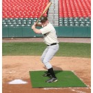 ProMounds Home Plate Stance Mat Pro 3' x 7' - Green Turf