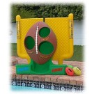 Aqua Toss II Football Target Game System by Pool Shot - Yellow/Green/Brown Design