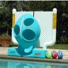 Aqua Toss II Football Target Game System by Pool Shot - Blue/White Design