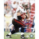 """Mike Alstott """"Holding Ball"""" Autographed Tampa Bay Bucs 8"""" x 10"""" Photograph (Unframed)"""