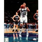 "Alonzo Mourning Autographed Charlotte Hornets ""With Ball"" 8"" x 10"" Photograph (Unframed)"