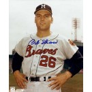 "Bob Shaw Autographed Milwaukee Braves 8"" x 10"" Photograph (Unframed)"