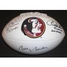 Bobby Bowden, Charlie Ward, and Chris Weinke TRIPLE Autographed FSU Seminoles Football