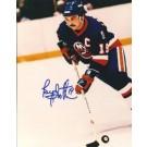 "Bryan Trottier Autographed New York Islanders 8"" x 10"" Photograph Hall of Famer (Unframed)"