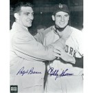 "Bobby Thomson and Ralph Branca Autographed ""Choking"" Black and White 8"" x 10"" Photograph (Unframed)"