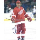 "Chris Chelios Autographed Detroit Red Wings 8"" x 10"" Photograph Future Hall of Famer (Unframed)"