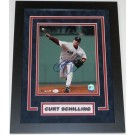 "Curt Schilling Autographed Boston Red Sox "" Throwing Framed"" 8"" x 10"" Custom Framed Photograph"