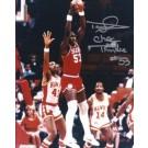 "Darryl Dawkins Autographed Philadelphia 76ers 8"" x 10"" Photograph w/ ""Chocolate Thunder"" inscription (Unframed)"