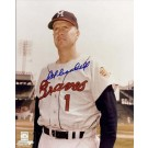 "Del Crandall Autographed Milwaukee Braves 8"" x 10"" Photograph (Unframed)"