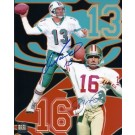 "Dan Marino and Joe Montana DUAL Autographed 8"" x 10"" Photograph Miami Dolphins San Francisco 49ers (Unframed)"