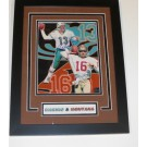 "Dan Marino and Joe Montana DUAL Autographed 8"" x 10"" Photograph Football Custom Frame (Unframed)"