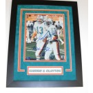 "Dan Marino and Mark Clayton DUAL Autographed Miami Dolphins 8"" x 10"" Custom Framed Photograph"