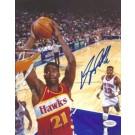 "Dominique Wilkins Autographed Atlanta Hawks 8"" x 10"" Photograph (Unframed)"