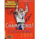1996 Florida Gators Championship QB Danny Wuerffel and Coach Steve Spurrier Dual Autographed Commemorative Sports Illustrated Full Magazine (Unframed)